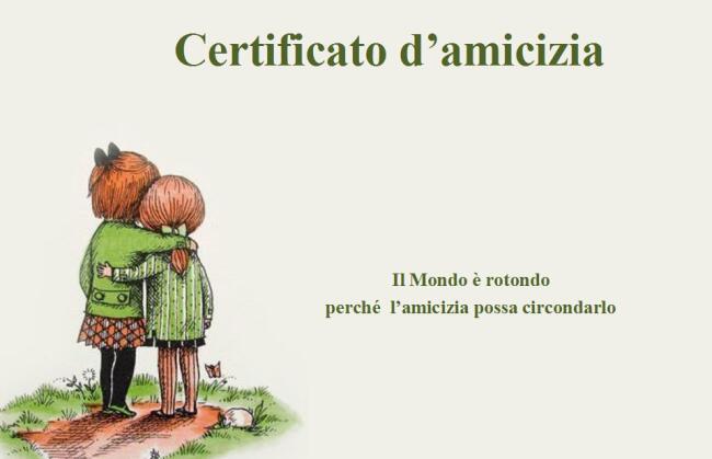 spesso Certificato di amicizia. UA77